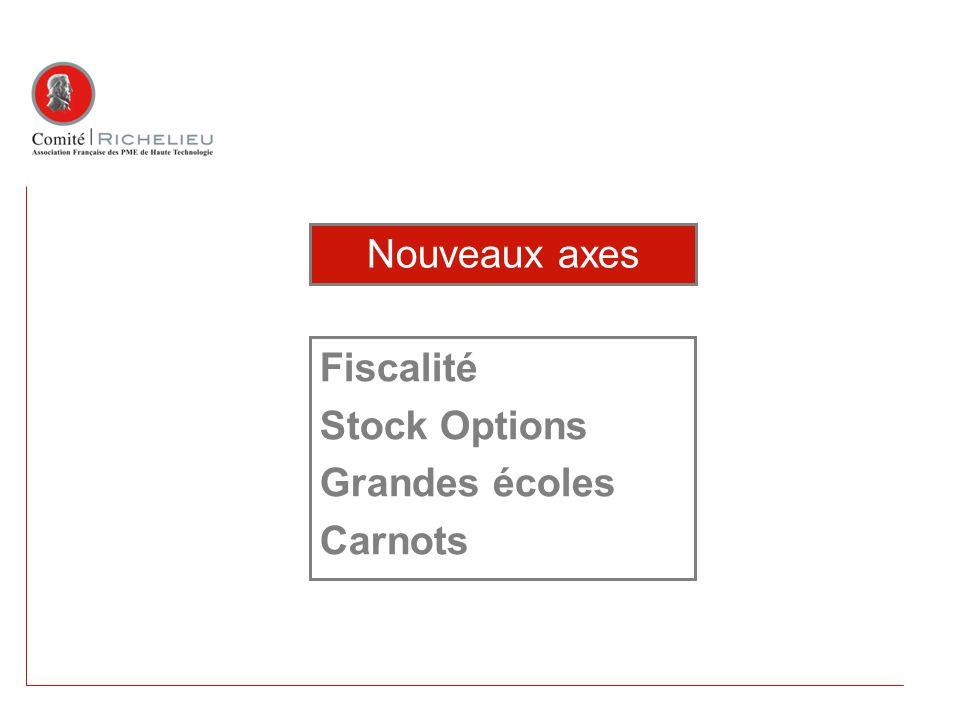 Fiscalité Stock Options Grandes écoles Carnots Nouveaux axes