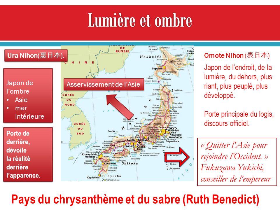 Japon de lendroit, de la lumière, du dehors, plus riant, plus peuplé, plus développé. Porte principale du logis, discours officiel. Japon de lombre As