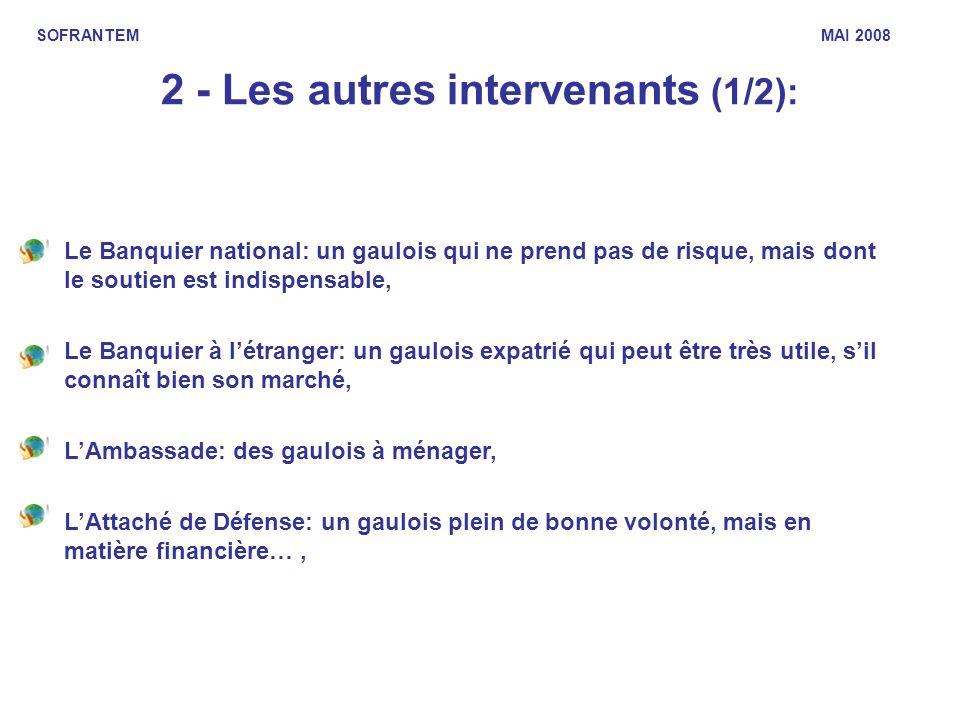 2 - Les autres intervenants (1/2): Le Banquier national: un gaulois qui ne prend pas de risque, mais dont le soutien est indispensable, Le Banquier à
