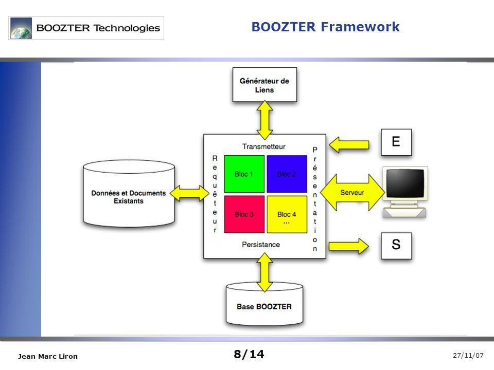 27/11/07 Jean Marc Liron 8/14 BOOZTER Framework