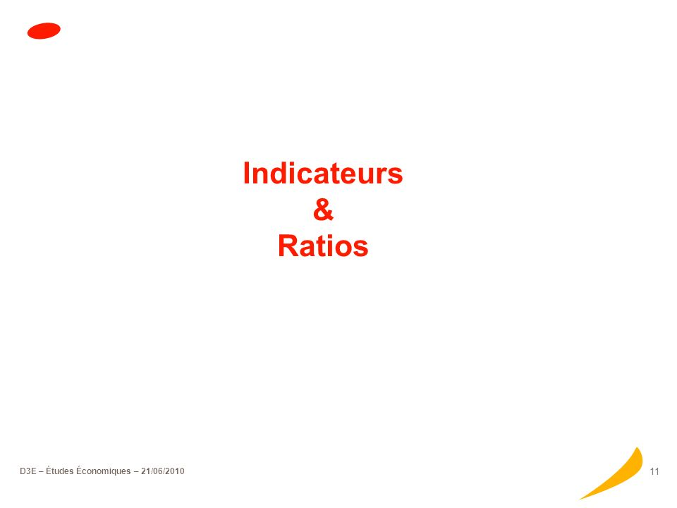 D3E – Études Économiques – 21/06/2010 10 Typologie des entreprises Répartition par secteur dactivité Focus sur les services Les services aux entrepris