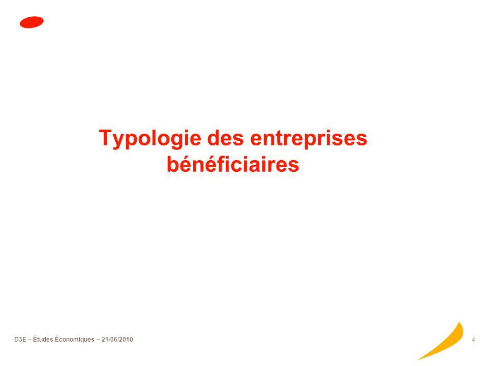 D3E – Études Économiques – 21/06/2010 3 Le contrat de développement participatif en bref Les entreprises accompagnées, via un CDP, représentent un vol