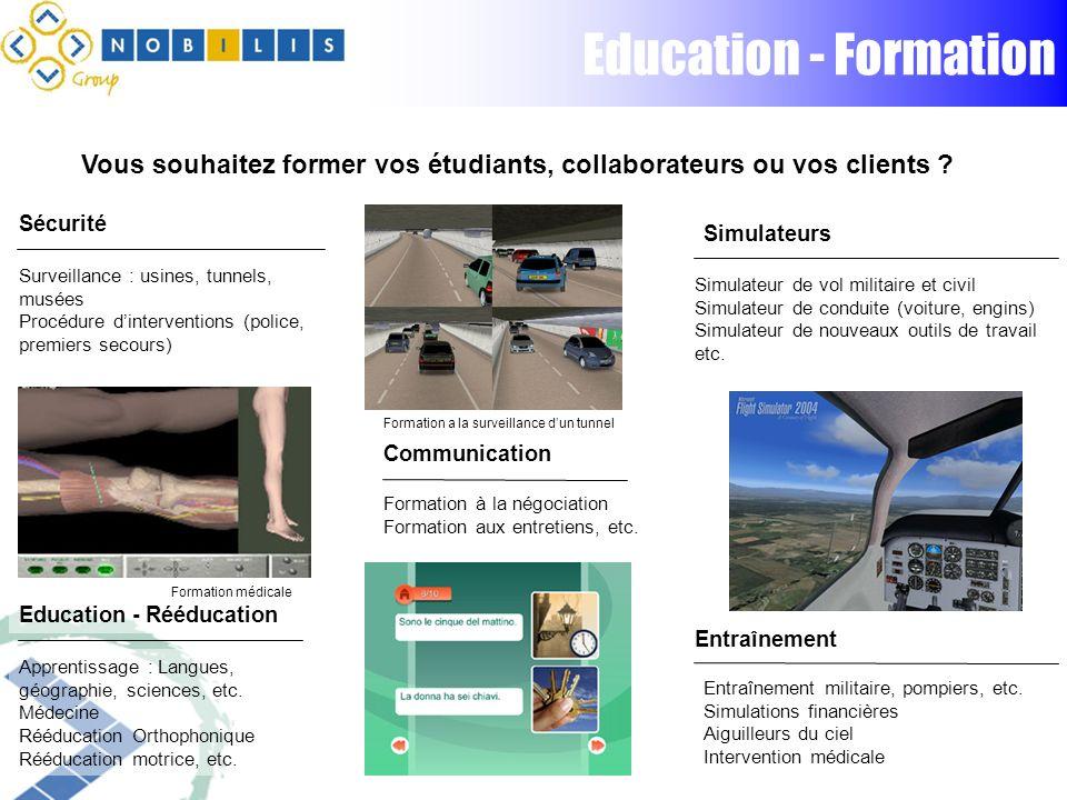 Education - Formation Vous souhaitez former vos étudiants, collaborateurs ou vos clients .
