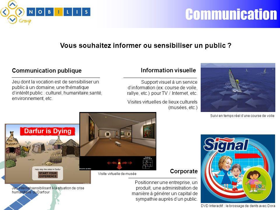 Communication Vous souhaitez informer ou sensibiliser un public .