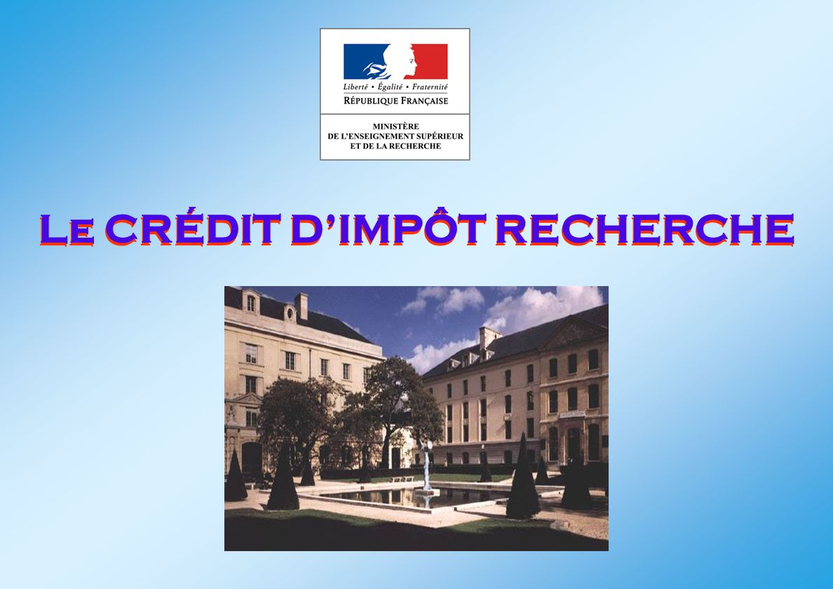 Le CRÉDIT DIMPÔT RECHERCHE