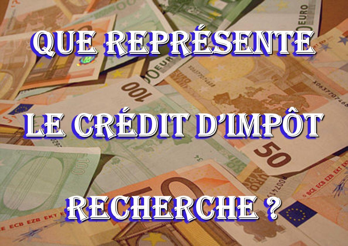 3 Que représente le Crédit dimpôt recherche ?