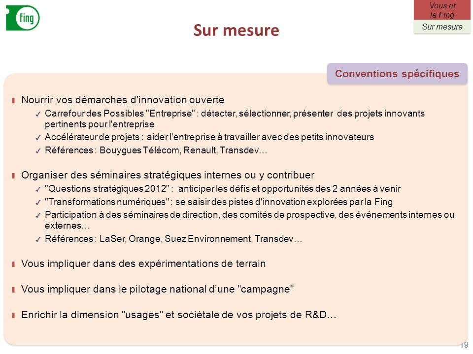 Sur mesure 19 Nourrir vos démarches d'innovation ouverte Carrefour des Possibles