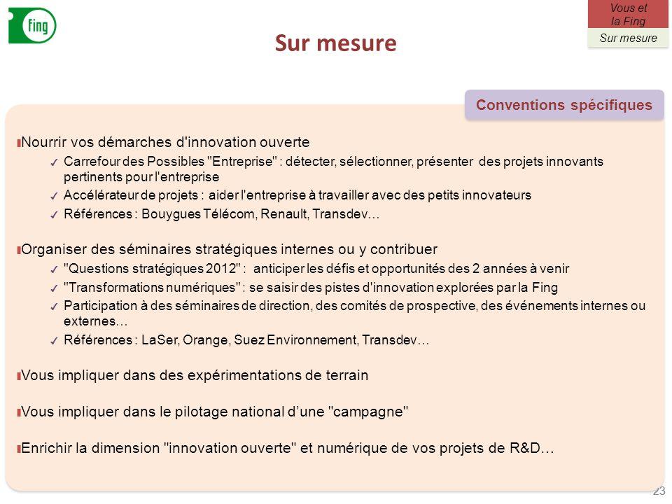 Sur mesure 23 Nourrir vos démarches d'innovation ouverte Carrefour des Possibles
