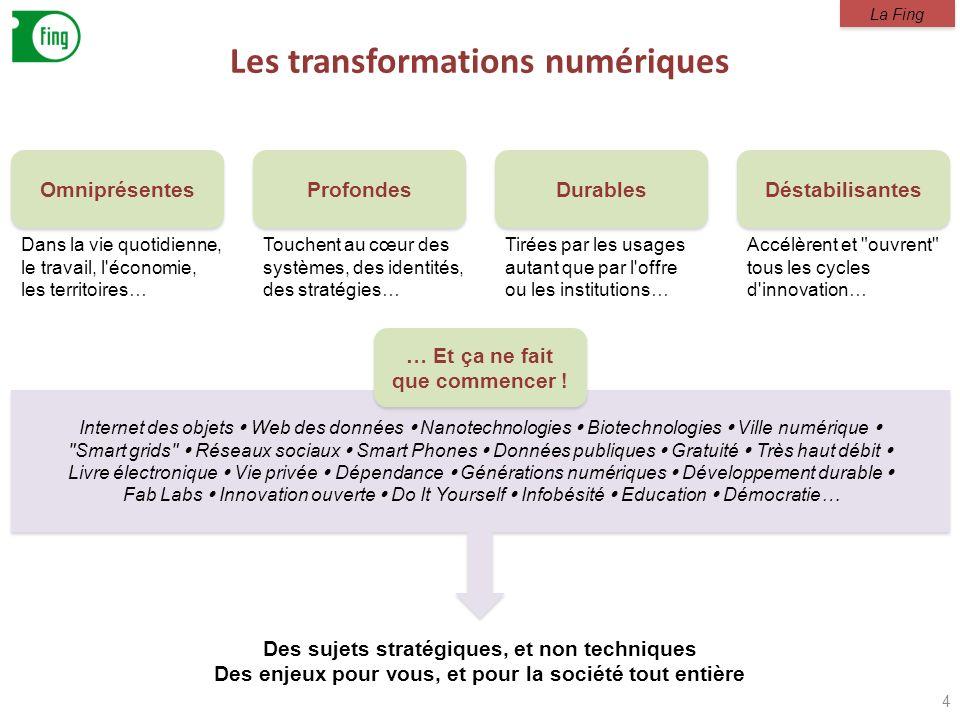 Internet des objets Web des données Nanotechnologies Biotechnologies Ville numérique