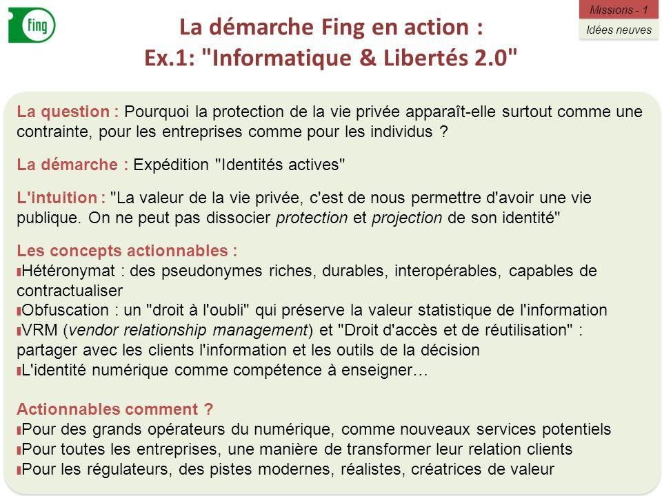 La démarche Fing en action : Ex.1: