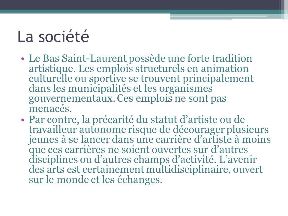 La société Le Bas Saint-Laurent possède une forte tradition artistique.