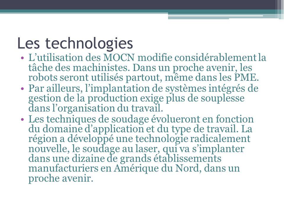 Les technologies Lutilisation des MOCN modifie considérablement la tâche des machinistes.
