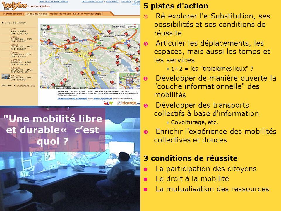 5 pistes d'action Ré-explorer l'e-Substitution, ses possibilités et ses conditions de réussite Articuler les déplacements, les espaces, mais aussi les