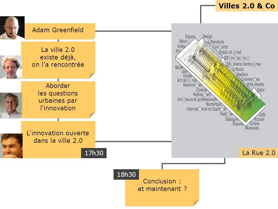 Villes 2.0 & Co La ville 2.0 existe déjà, on l a rencontrée Aborder les questions urbaines par l innovation L innovation ouverte dans la ville 2.0 Conclusion : et maintenant .