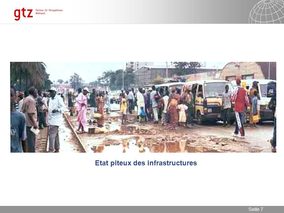 08.01.2014 Seite 7 Seite 7 Etat piteux des infrastructures