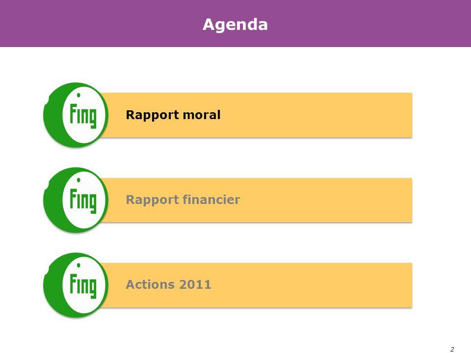 2 Agenda Rapport moral Rapport financier Actions 2011