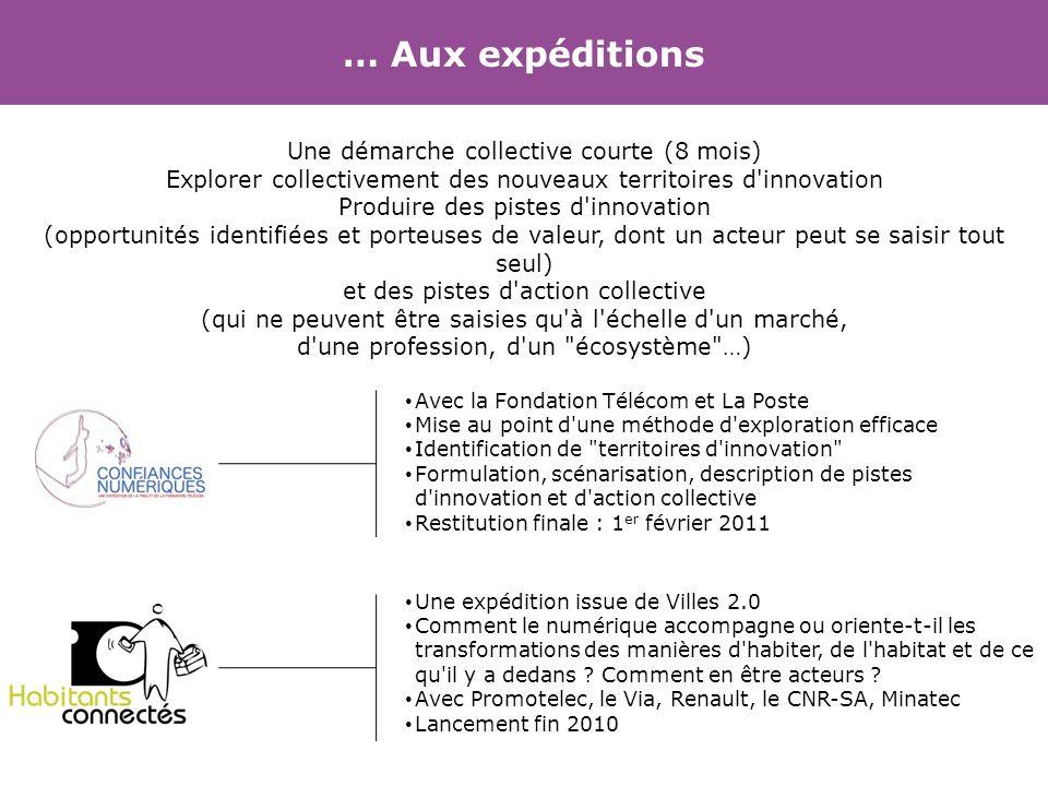 … Aux expéditions Avec la Fondation Télécom et La Poste Mise au point d'une méthode d'exploration efficace Identification de