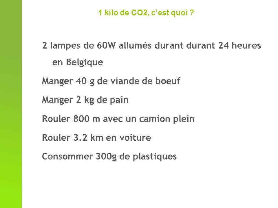 1 kilo de CO2, cest quoi .