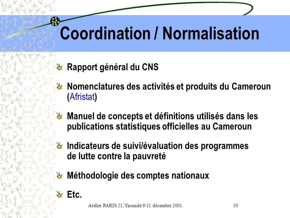 Prix Indice Harmonisé des Prix à la Consommation pour les pays de la CEMAC ( en remplacement de lINP.) -Nouvelles pondérations (depuis EBC 1983/84) -N