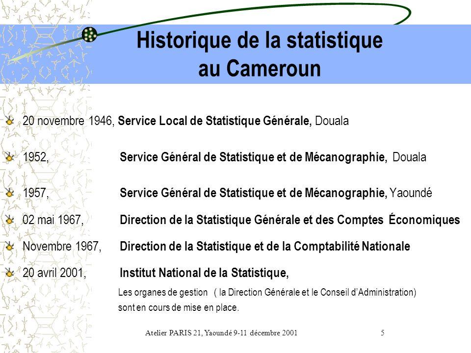 Plan de lexposé Bref historique de la statistique au Cameroun Contexte actuel Organisation du SNIS Fonctionnement du SNIS Développement de la statisti