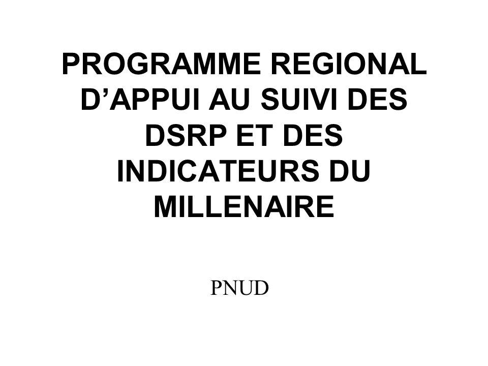 PROGRAMME REGIONAL DAPPUI AU SUIVI DES DSRP ET DES INDICATEURS DU MILLENAIRE PNUD