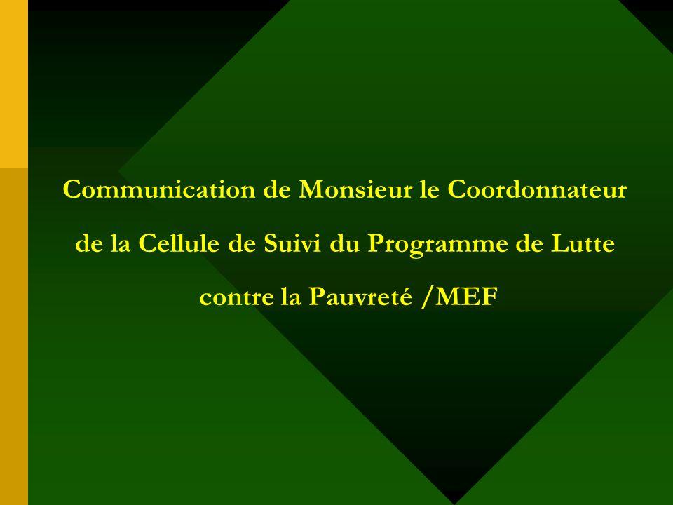 Séminaire de Paris-21 Séminaire de Paris-21 « Lutilisation des statistiques dans les politiques de lutte contre la pauvreté et de développement » Hôtel Indépendance - Dakar 21-23 janvier 2003