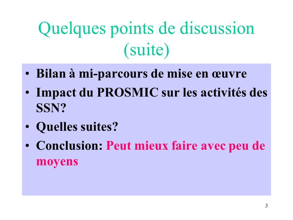 2 Quelques points de discussion Pourquoi un cadre de référence.