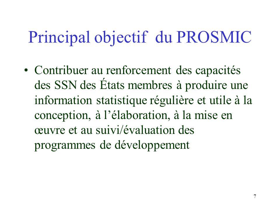 6 Cadre de référence (suite) Commun: Bien que volontariste, exige des Etats membres dAFRISTAT les mêmes efforts de consolidation de leurs appareils statistiques respectifs pour respecter leurs engagements mutuels dintégration économique