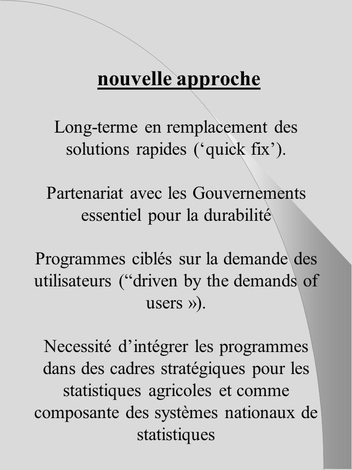 II.Contraintes essentielles Problèmes plus spécifiques affectant les statistiques agricoles en Afrique : Dispositifs institutionnels (notamment textes conflictuels).