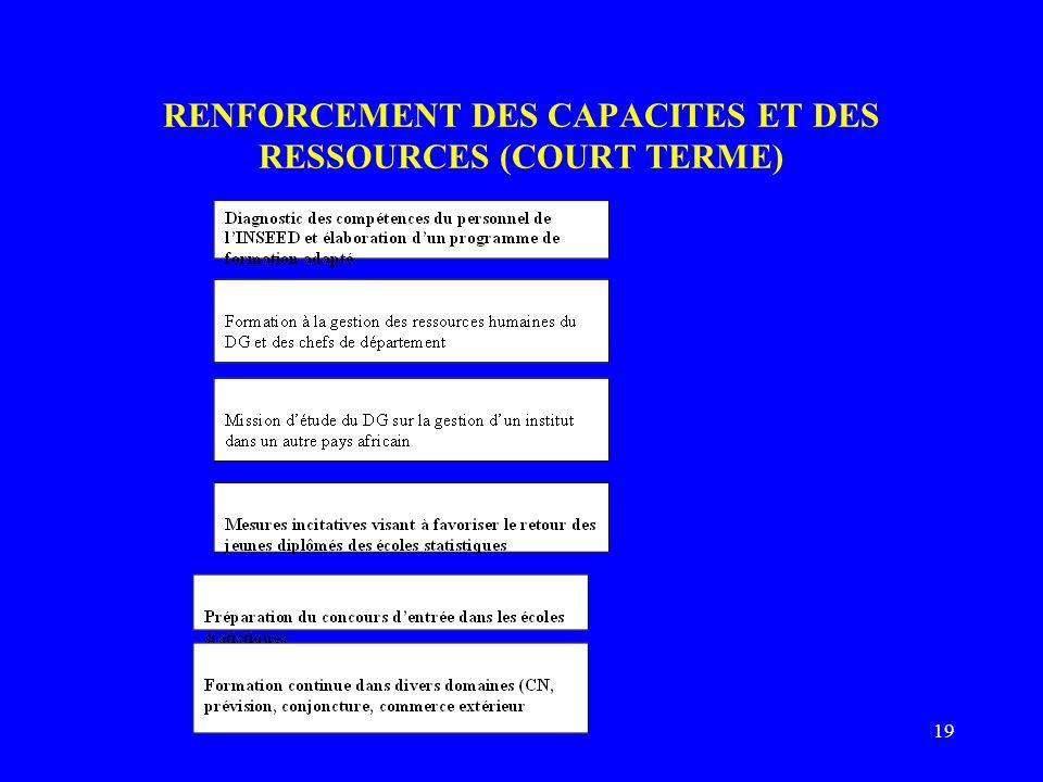19 RENFORCEMENT DES CAPACITES ET DES RESSOURCES (COURT TERME)