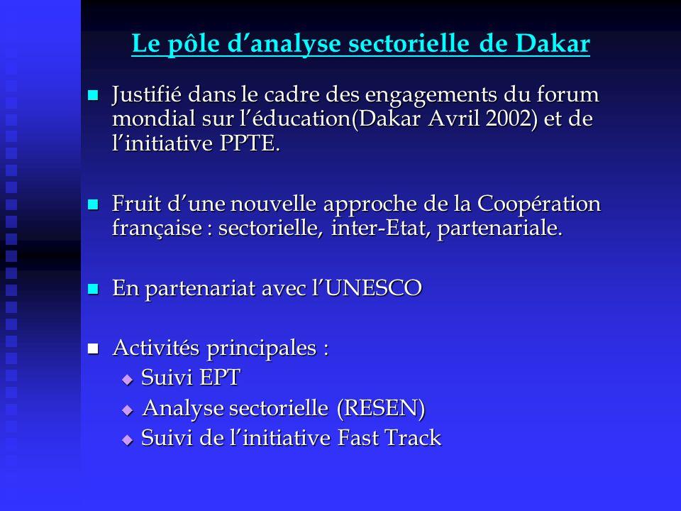 ANALYSE SECTORIELLE EDUCATION STRATEGIE SECTORIELLE NATIONALE DSRP Volets sectoriels : - éducation -santé -etc.