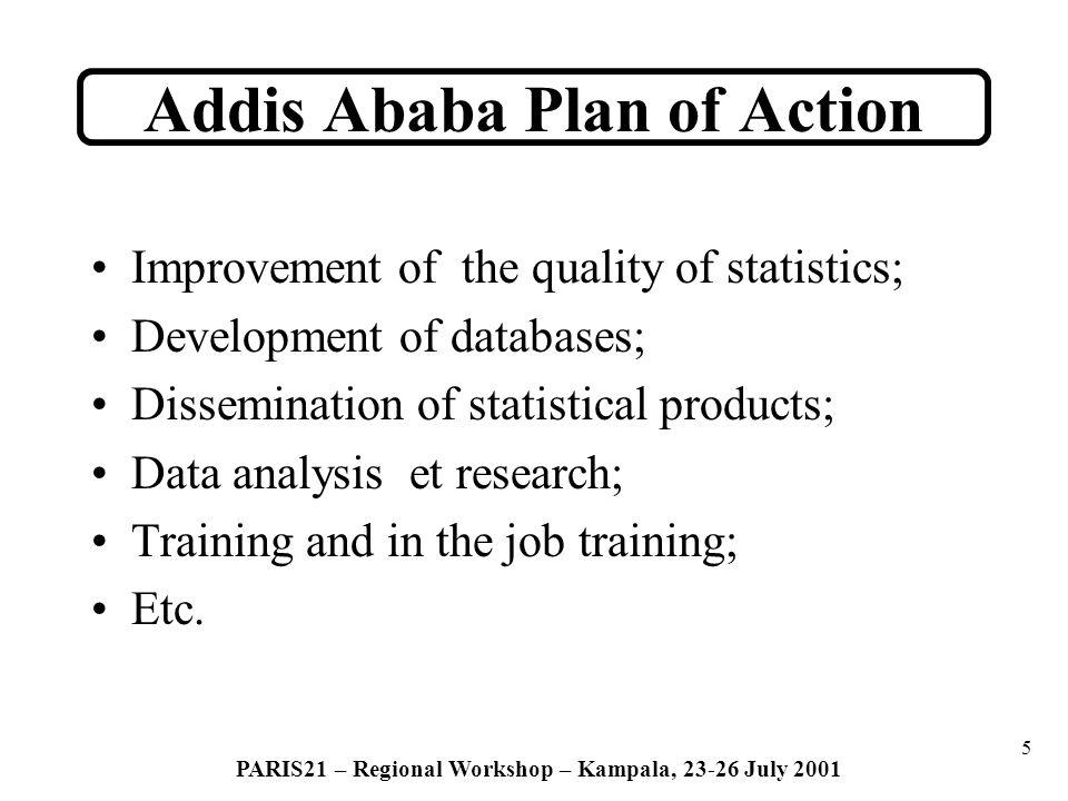 6 PARIS21 – Regional Workshop – Kampala, 23-26 July 2001 Evaluation of AAPA ----------- Main findings