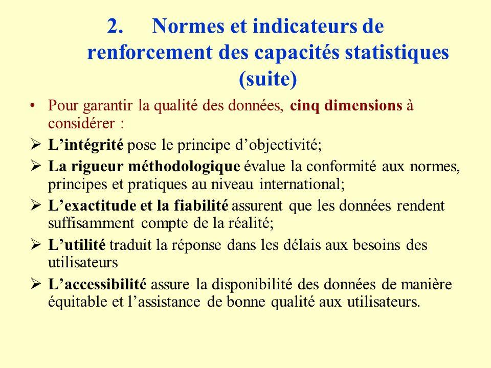 4.Développements récents (suite) Enquêtes démographiques et sur les conditions de vie Autres Enquêtes sur les conditions de vie: Enquête communautaire en 2000 sur lensemble des villages du Sénégal; Enquête QUID en 2001, module de lESAM II; Enquêtes de perception de la pauvreté en 2001 selon deux approches: Approche qualitative de nature anthropo-sociologiqueselon la méthodologie PPA ( Participatory Poverty Assessment); Approche quantitative qualitative basée sur une enquête auprès des ménages;