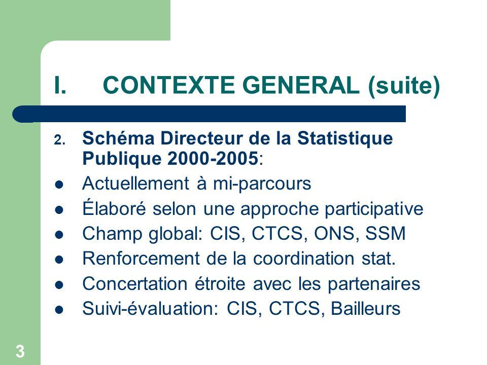 14 II.2.OFFRE STATISTIQUE: Réalisations récentes & Questions actuelles (8) 5.