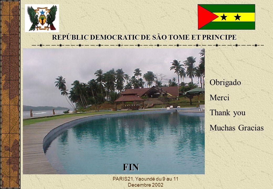 PARIS21, Yaoundé du 9 au 11 Decembre 2002 REPÚBLIC DEMOCRATIC DE SÃO TOME ET PRINCIPE FIN Obrigado Merci Thank you Muchas Gracias