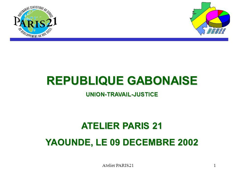Atelier PARIS211 REPUBLIQUE GABONAISE UNION-TRAVAIL-JUSTICE ATELIER PARIS 21 YAOUNDE, LE 09 DECEMBRE 2002