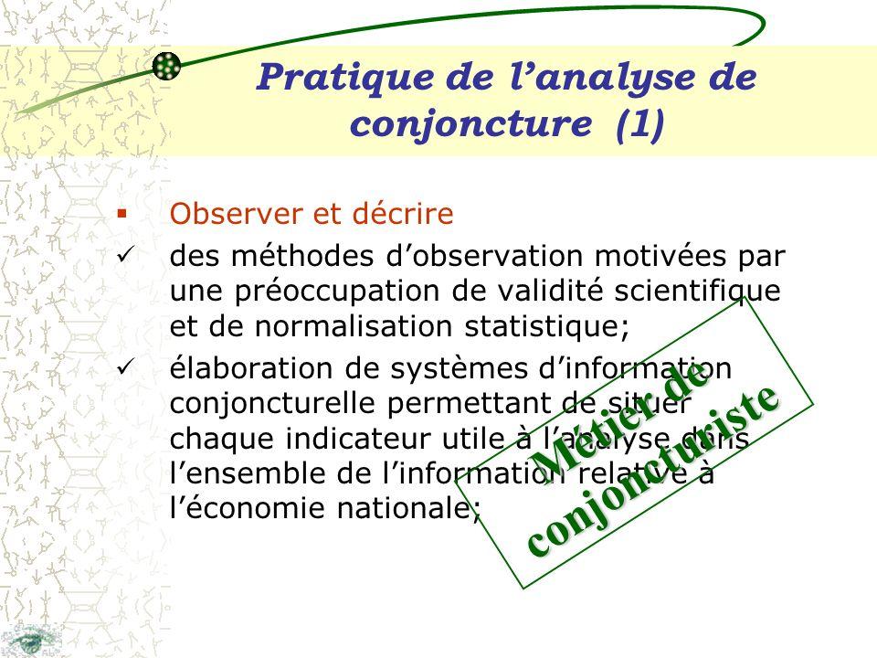 Produits et diffusion Tableau de bord mensuel information conjoncturelle (nat.