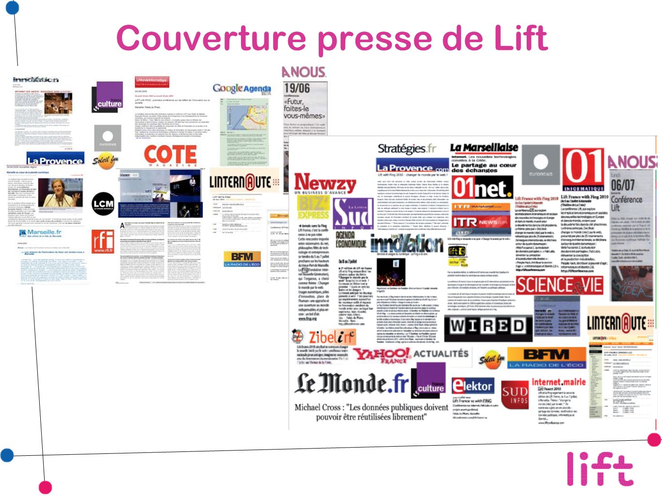 Couverture presse de Lift