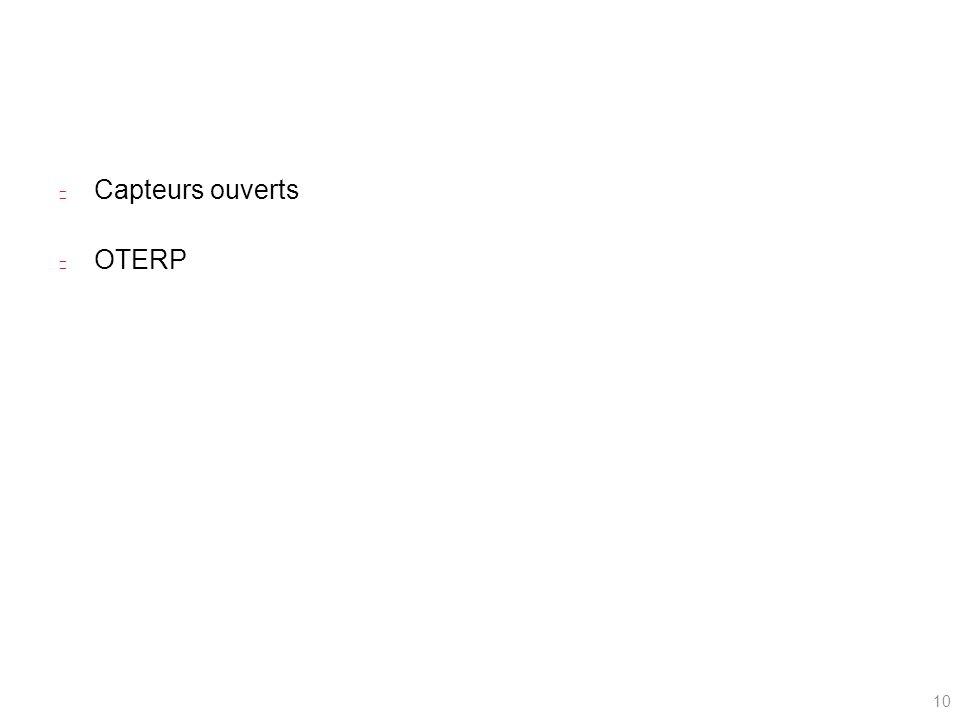 Capteurs ouverts OTERP 10