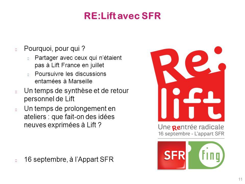 RE:Lift avec SFR Pourquoi, pour qui .