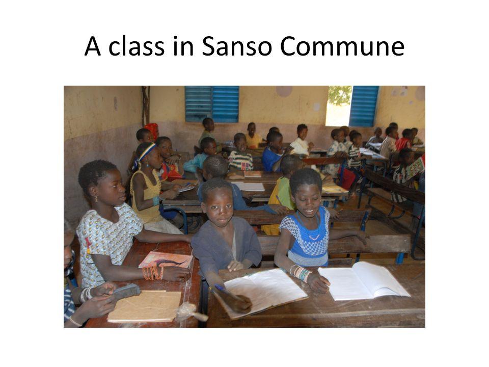 A class in Sanso Commune