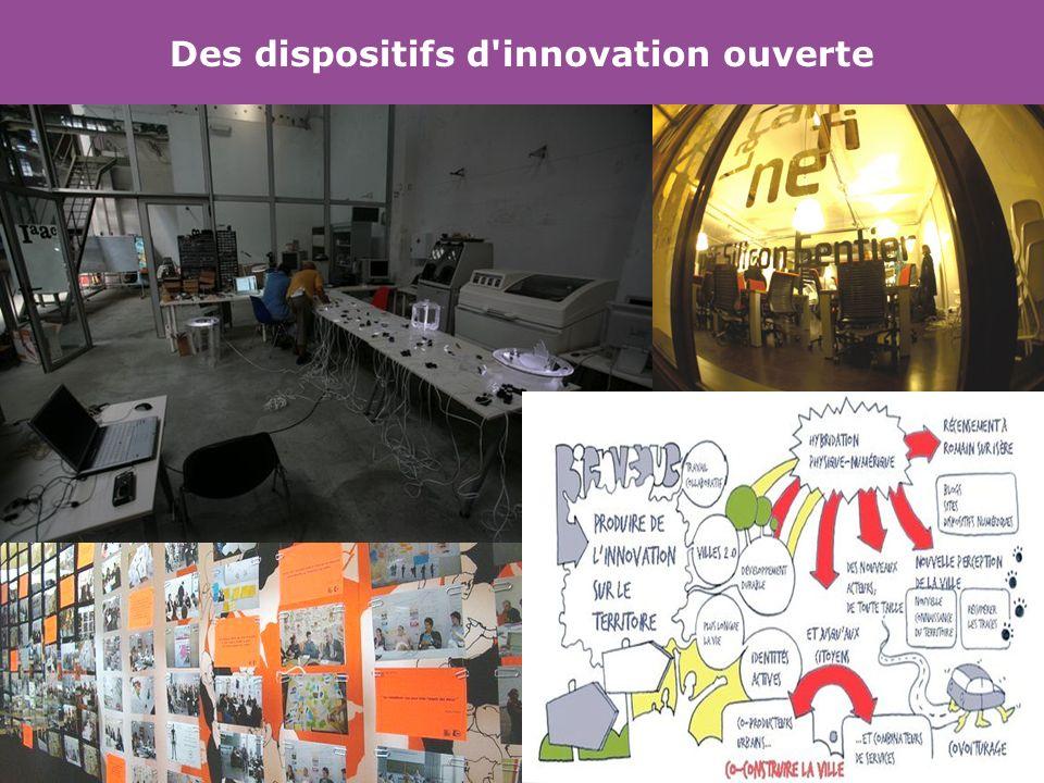 Des dispositifs d'innovation ouverte