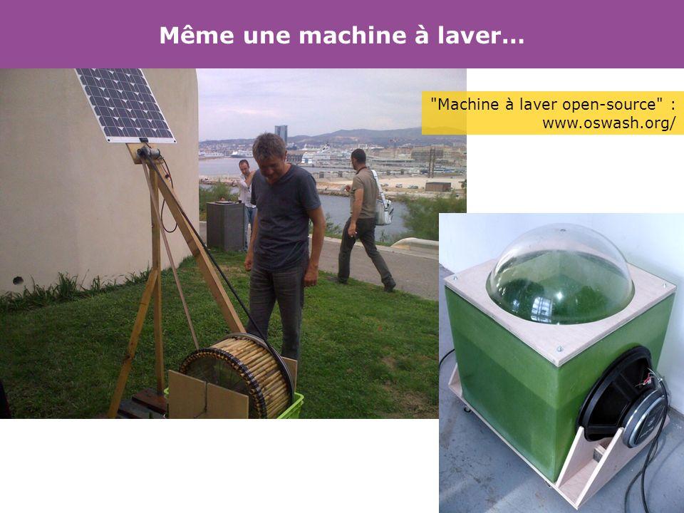 Même une machine à laver…