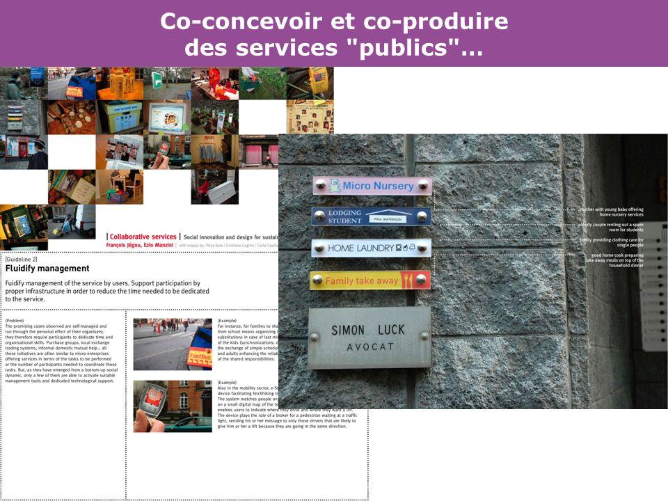 Co-concevoir et co-produire des services