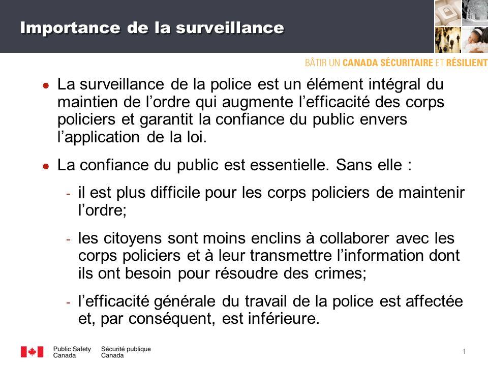 La surveillance de la police et le renforcement de la confiance du public Délégation canadienne à la MISPA III Novembre 2011 SGDDI n o 517712