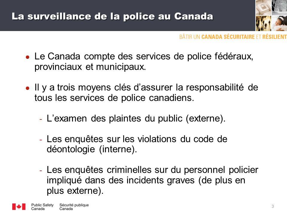 2 Comprendre la surveillance La surveillance est lexamen systématique du comportement de la police pour veiller à ce quil soit conforme à léthique et à ce quil respecte les droits fondamentaux des citoyens.