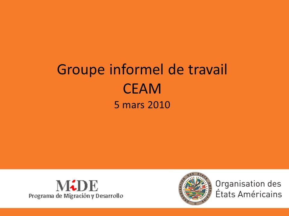 Groupe informel de travail CEAM 5 mars 2010