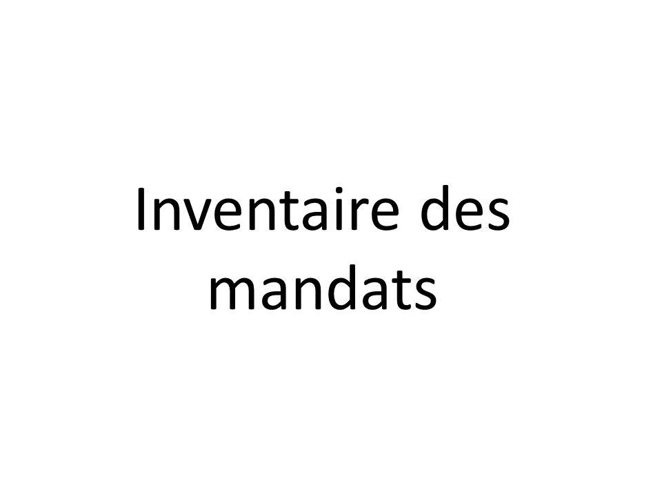 Inventaire des mandats