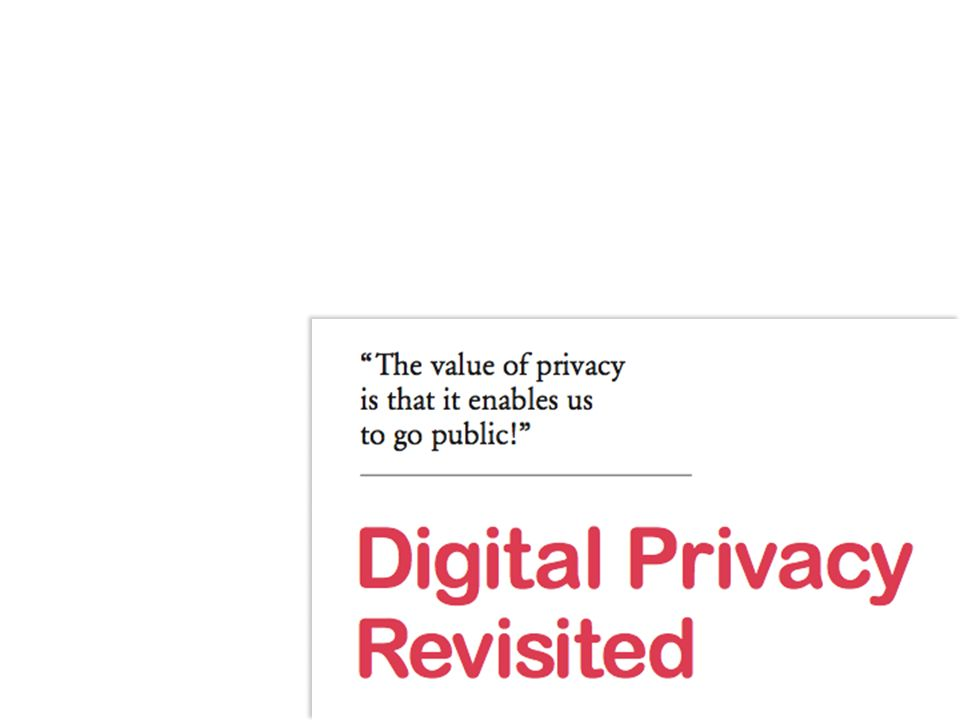In a Nutshell… Personal Data are the lifeblood of today s economy The potential for abuse by firms and governments is huge Regulation is necessary, but insufficient… … especially since consumers seem univolved [But are they, really?] One direction is for orgs.