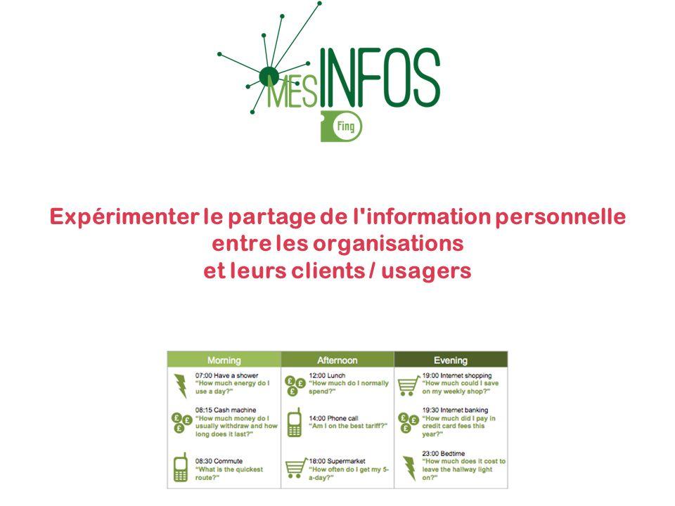 Expérimenter le partage de l information personnelle entre les organisations et leurs clients / usagers